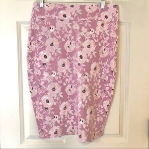 Downeast pink floral 3rd St skirt large